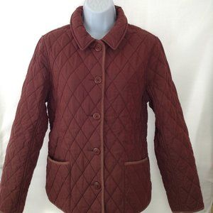 L.L. Bean Quilted Riding Jacket Plaid Lining